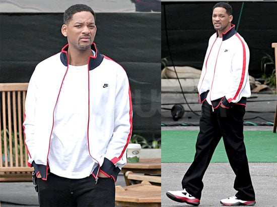 Pictures of Will Smith on the LA Set of HawthoRNe, Which Will Reportedly Have a Cameo From Marc Anthony