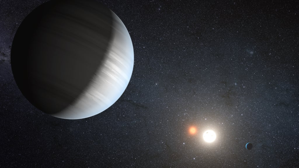 Kepler-47 Sharing the Light of Two Suns