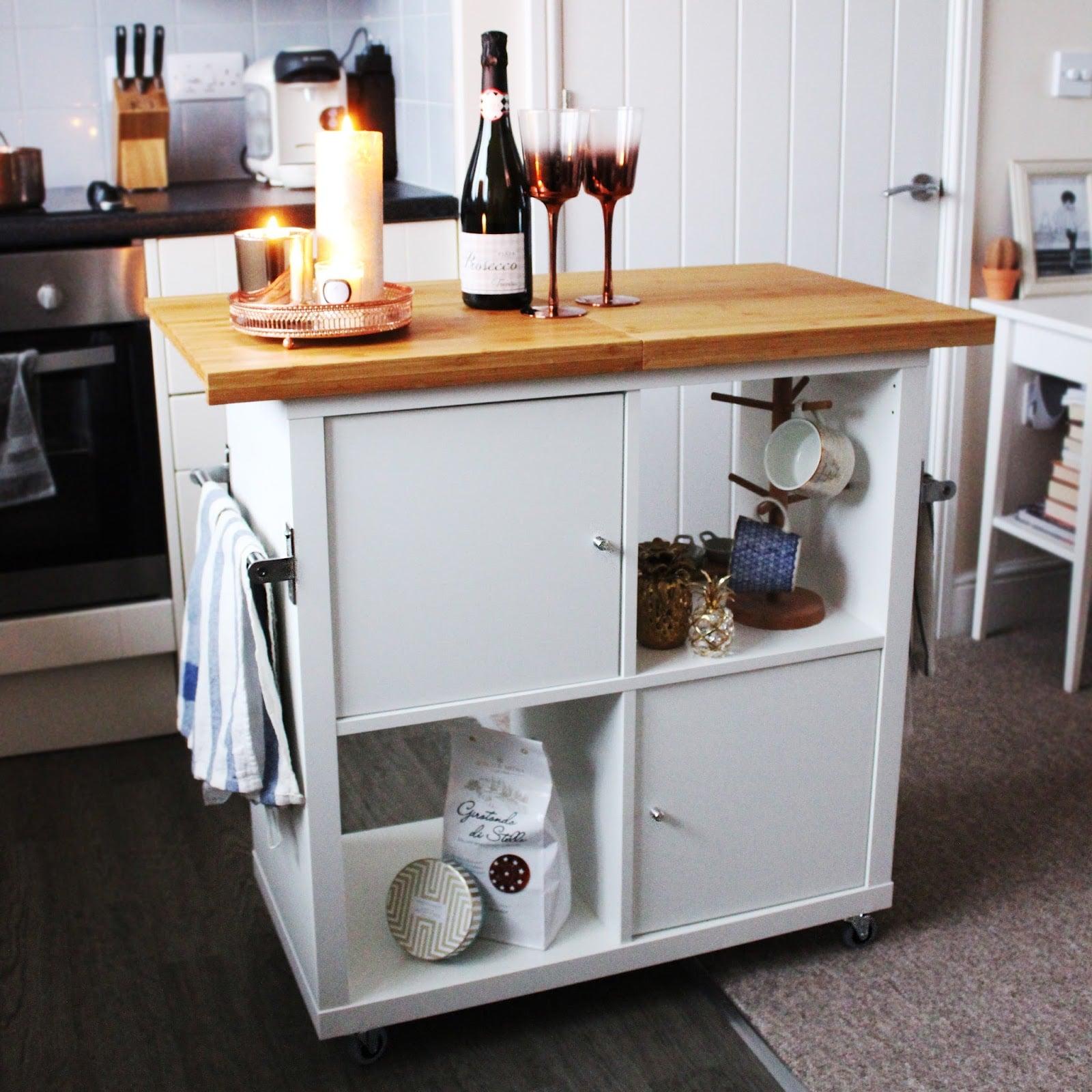 Wheeled Kitchen Island | 9 Ikea Kitchen Hacks That Change ...