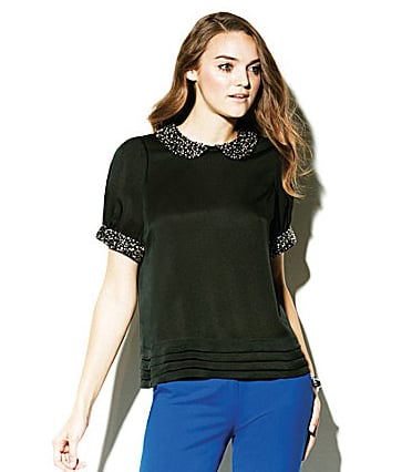 Embellished collars are all the rage these days, so get in on the trend via this adorable Vince Camuto short-sleeved embellished-collar blouse ($53, originally $150).