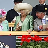 Queen Elizabeth II, Duchess of Cornwall, and Prince Charles, 2013