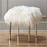 Sheepskin Stool ($349)