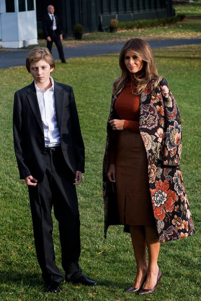 Melania Trump Wearing a Stella McCartney Coat