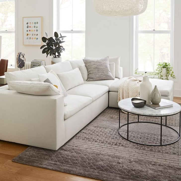 Restar Gray Sectional Sofa,Adjastable Couch L-Shaped Chaise Living Room Furniture Sofa Set