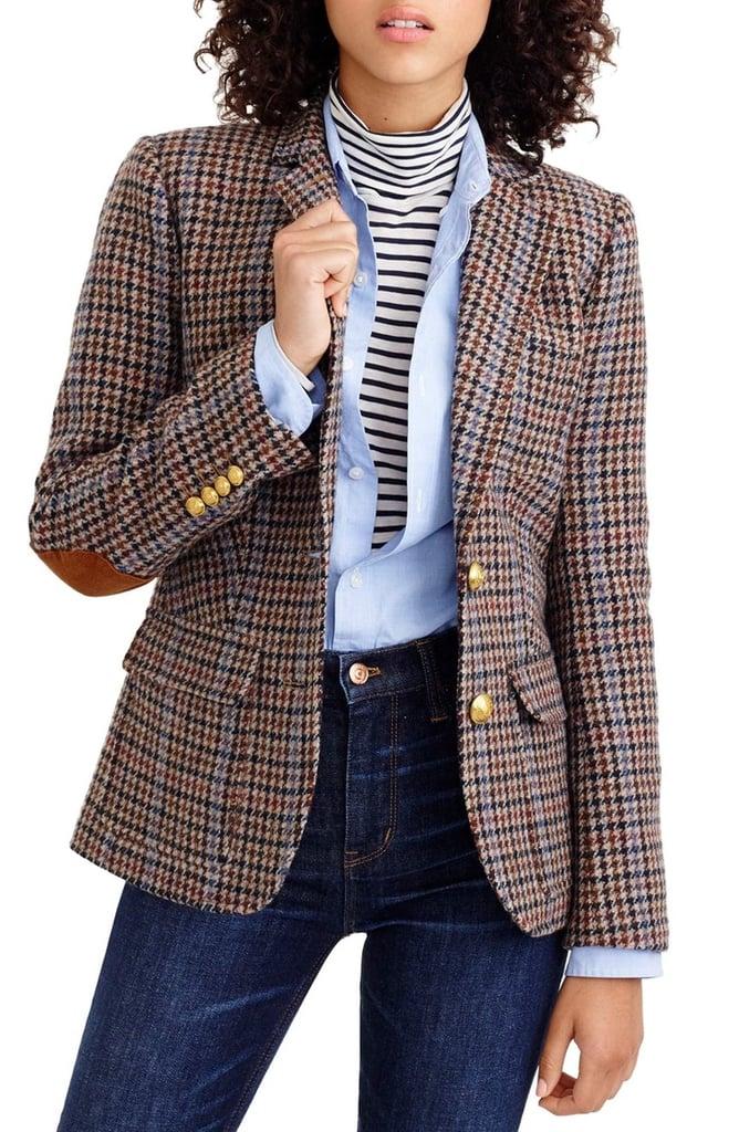 J. Crew Rhodes Houndstooth Wool Blazer ($248)