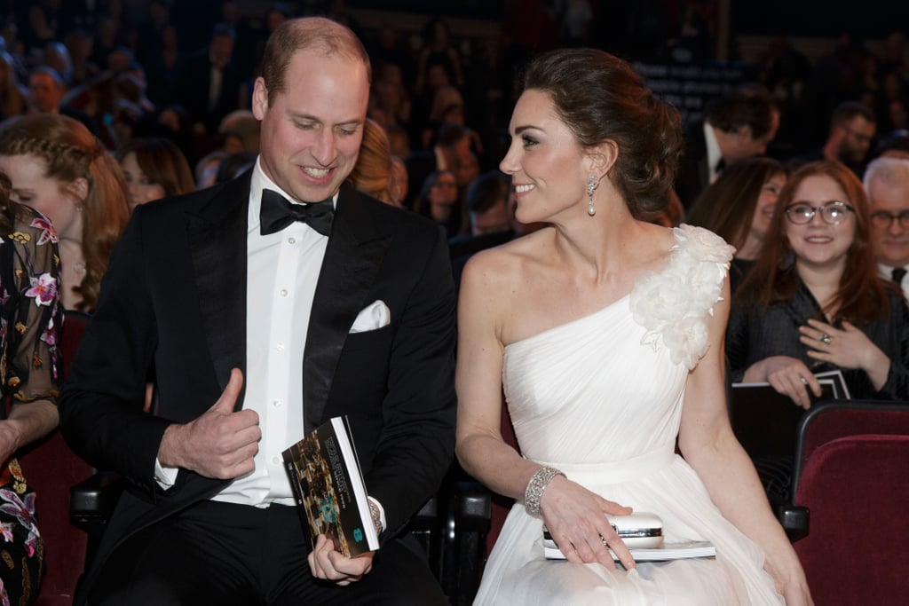 In what is quickly becoming the most glamorous royal date night of the year, the Duke and Duchess of Cambridge once again attended the BAFTA Awards at the Royal Albert Hall in London on Feb. 10. The royal couple previously attended the awards — which are the UK equivalent of the Oscars — in 2018 and 2017, and Prince William made a number of appearances solo before that.  Prince William is president of BAFTA (the British Academy of Film and Television Arts), which makes the couple the guests of honor at the star-studded ceremony. Last year, William and Kate (who was pregnant with Prince Louis at the time) watched as the likes of Sam Rockwell, Allison Janney, Frances McDormand, and Daniel Kaluuya walked away with awards. This year, they rubbed shoulders with a whole host of international film talent, while looking just as glamorous. Kate stunned in a white one-shoulder gown with a pair of Princess Diana's earrings, while William looked handsome in a tux. Take a look at their latest appearance ahead, as well as some of the previous BAFTA moments.
