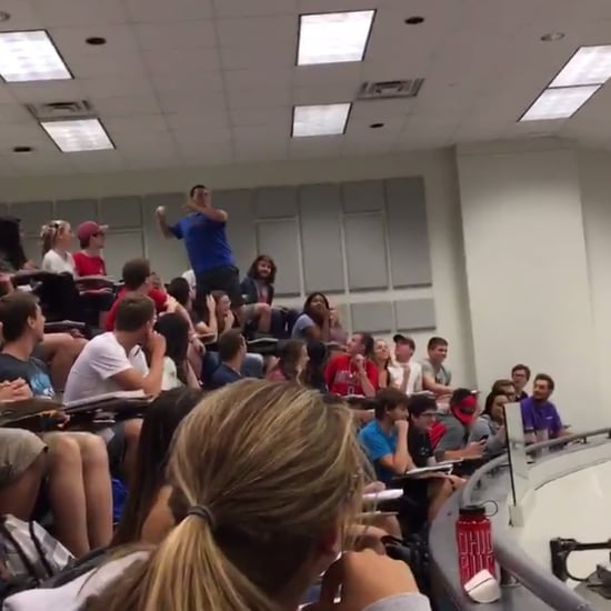 Ohio State Student Paper Ball Toss Video