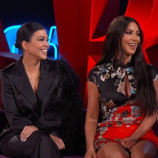 Kourtney and Kim Kardashian Talk Baby Names on Kimmel Video