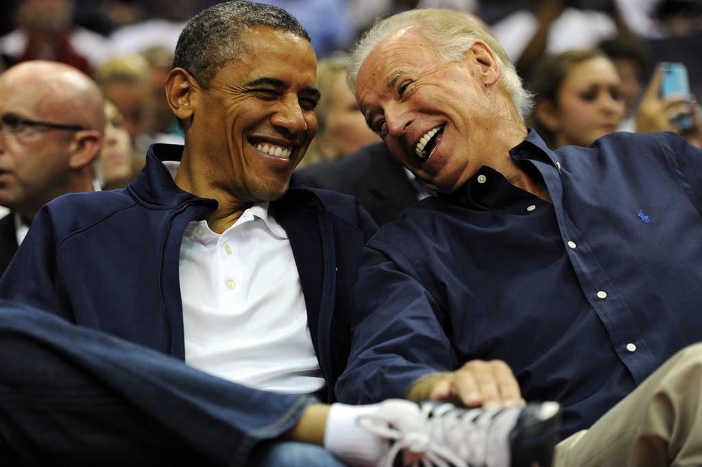 Pictures of Barack Obama and Joe Biden