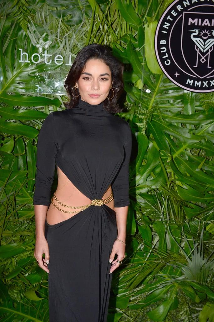 See Vanessa Hudgens's Sexy Low Slung Cult Gaia Dress