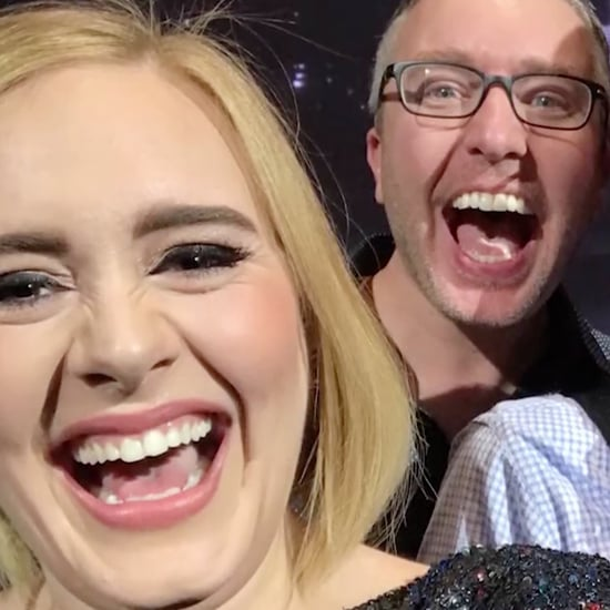 Adele's Concert Selfie With Two Dads and a Baby