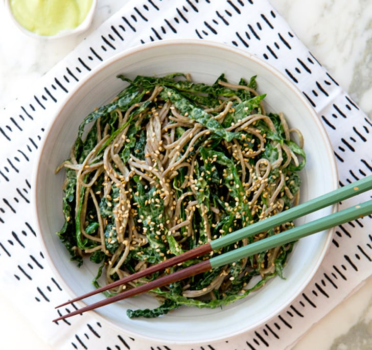 Soba Noodle Bowl With Kale and Avocado Miso Dressing
