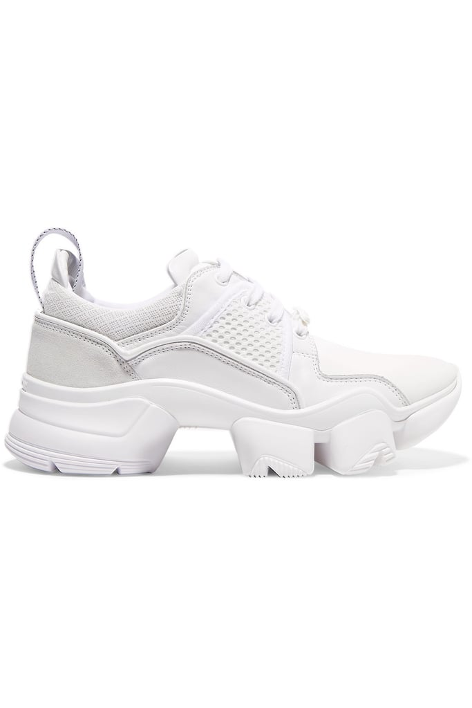 Givenchy Jaw Mesh and Suede-Trimmed Leather, Neoprene, and Rubber Sneakers