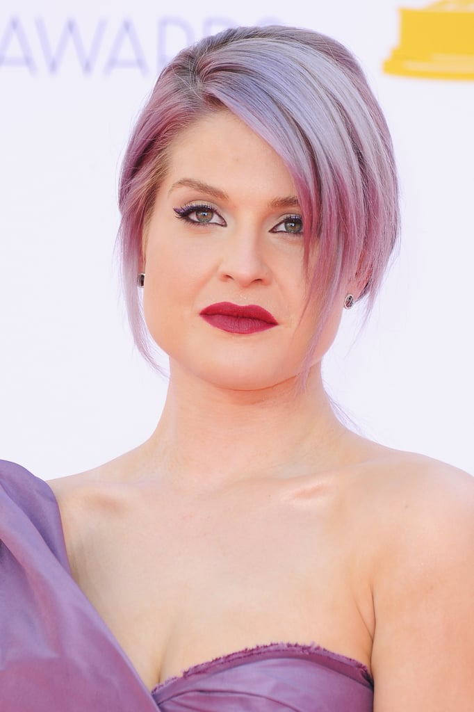 kelly osbourne pulled her purple hair up for the big night