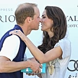 Prince William goes in for a sweet kiss.