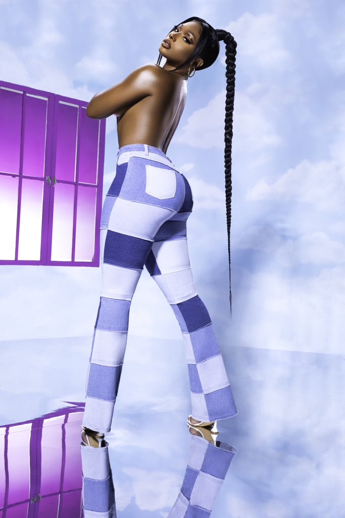 """Fashion Nova has teamed up with Megan Thee Stallion for a collection, and you better believe we're amped. With the rapper's newest album, Good News,  set to release on Nov. 20, this collection just adds to the excitement. The collection includes denim pieces, corset bodysuits, matching sets, and even plush outerwear. In total, the capsule collection has a total of 106 pieces that are affordably priced between $25 to $199. """"Designing this line with Fashion Nova has been a labor of love,"""" said Megan Thee Stallion in a press release. """"Not only am I able to bring my signature look to all the hotties out there, but I was able to create sexy and beautiful clothing that fit bodies of all shapes, sizes, and heights. If you're a tall girl like me, finding clothes that have savage style has never been easy, until now."""" The campaign images feature Megan posing in everything from a pair of patchwork jeans with a stack of hay to a sexy body-con dress while holding onto a metal horse. The singer even went all out and created matching pieces for your pet as well! Keep reading to see the wild campaign images, and check out the collection, which is available right now exclusively at fashionnova.com. We've even included our favorite picks for you to shop out ahead.      Related:                                                                                                           Bow Down to Megan Thee Stallion's Red Queen Outfit in Her New """"Don't Stop"""" Music Video"""