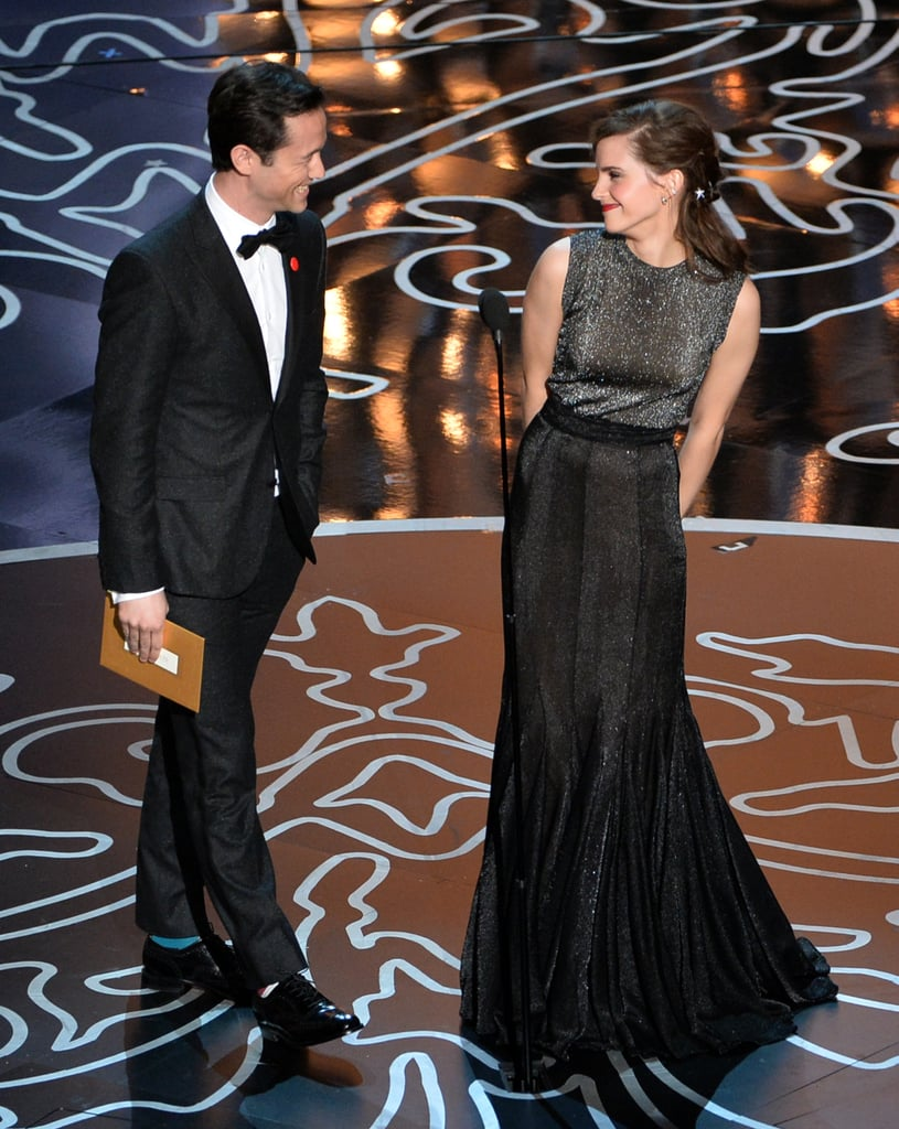 Joseph Gordon-Levitt and Emma Watson shared an adorable moment when they took the Oscars stage to present the award for best achievement in visual effects.