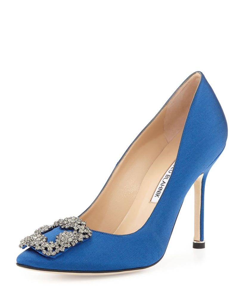 Manolo blahnik satin pump designer shoe gifts popsugar for Shoe designer manolo blahnik