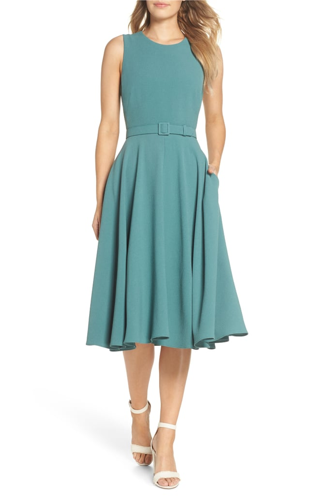 Gal Meets Glam Collection Kaye Belted Fit & Flare Dress