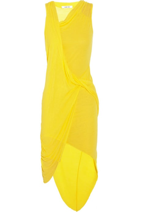 """I rarely wear bright colors, but this yellow dress has been calling my name ever since I saw it on the runway in September. The bright hue is perfect for a Summer soiree and I love the draped asymmetrical silhouette. "" — Chi Chau, associate editor Helmut Lang dress ($380)"