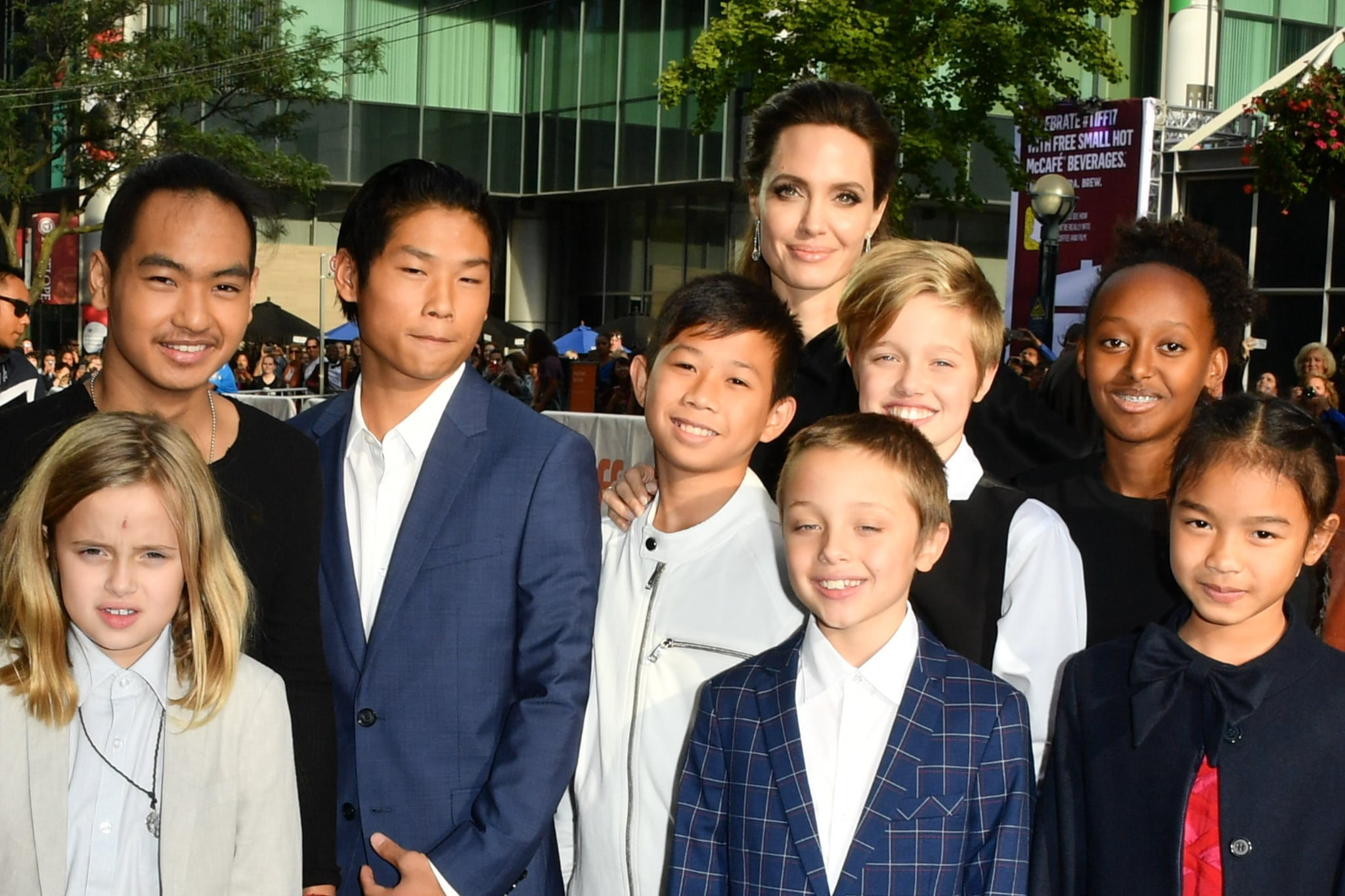 Angelina Jolie's Six Kids Wear Yellow Flowers to NYC Premiere