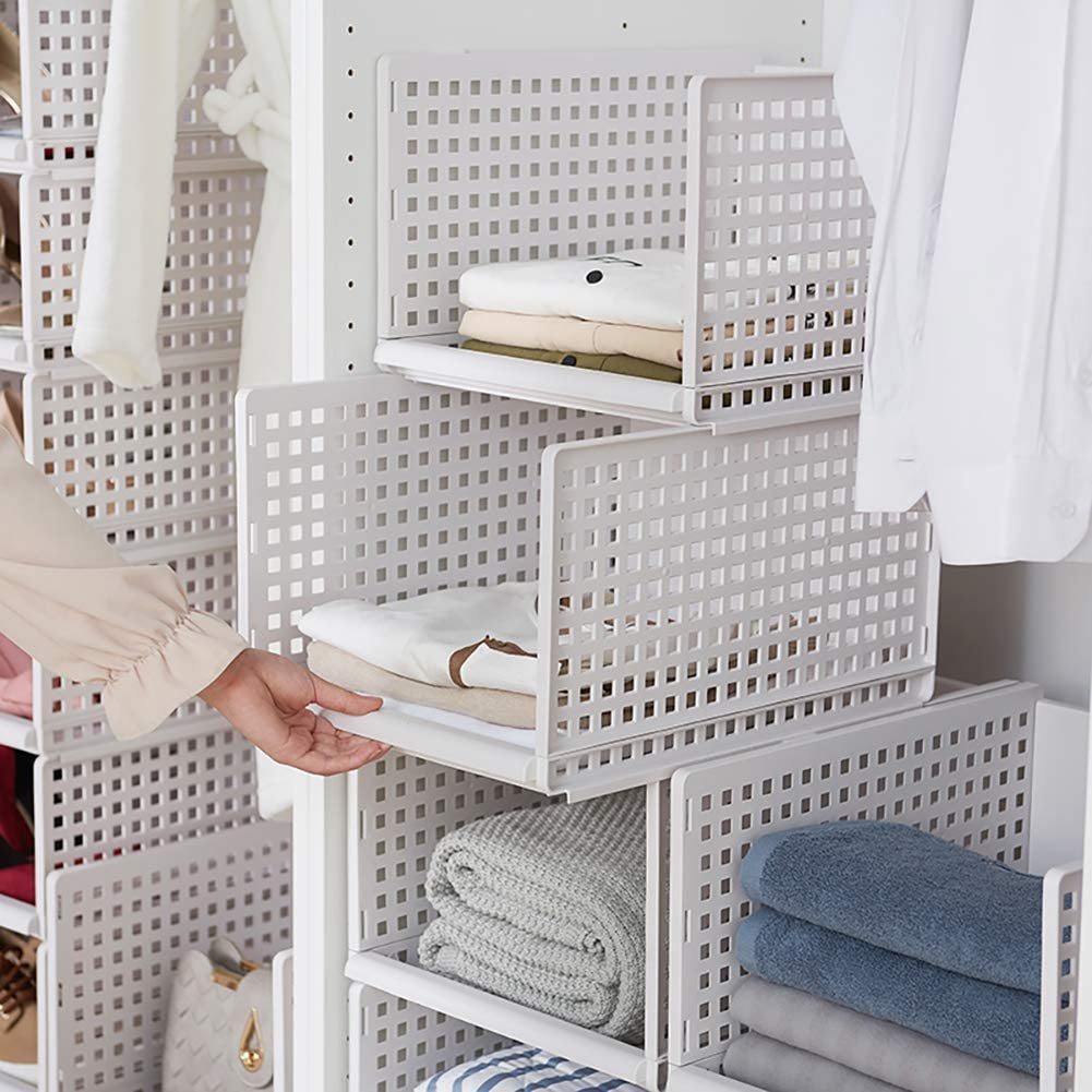 Stackable Plastic Wardrobe Organizers