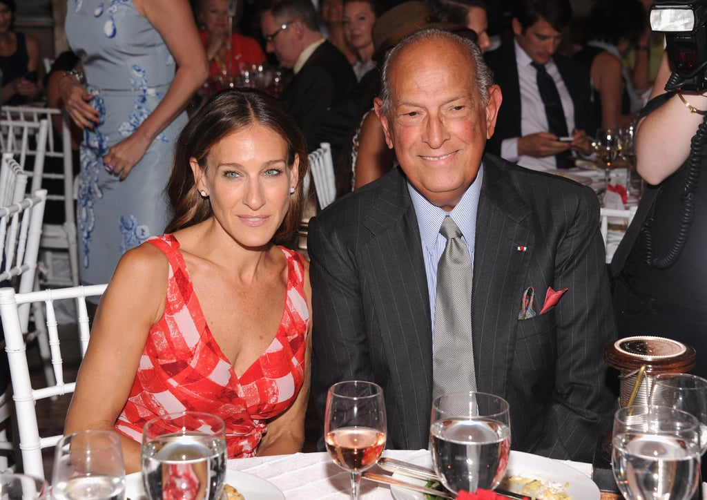 Sarah Jessica Parker attended lunch with Oscar de la Renta.