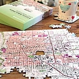 Personalized 'My Hometown' Map Jigsaw Puzzle
