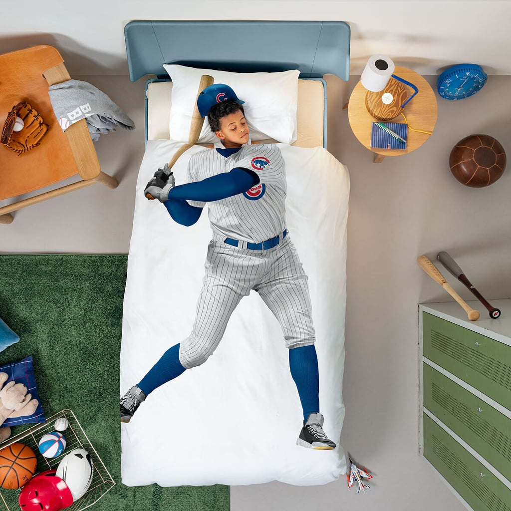 MLB Baseball Player Duvet and Pillowcase Set