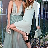 Suki and Immy matched in pastel blue hues for a party at The Serpentine Gallery in 2015.