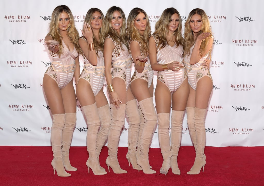 Heidi Klum and Five Doppelgängers