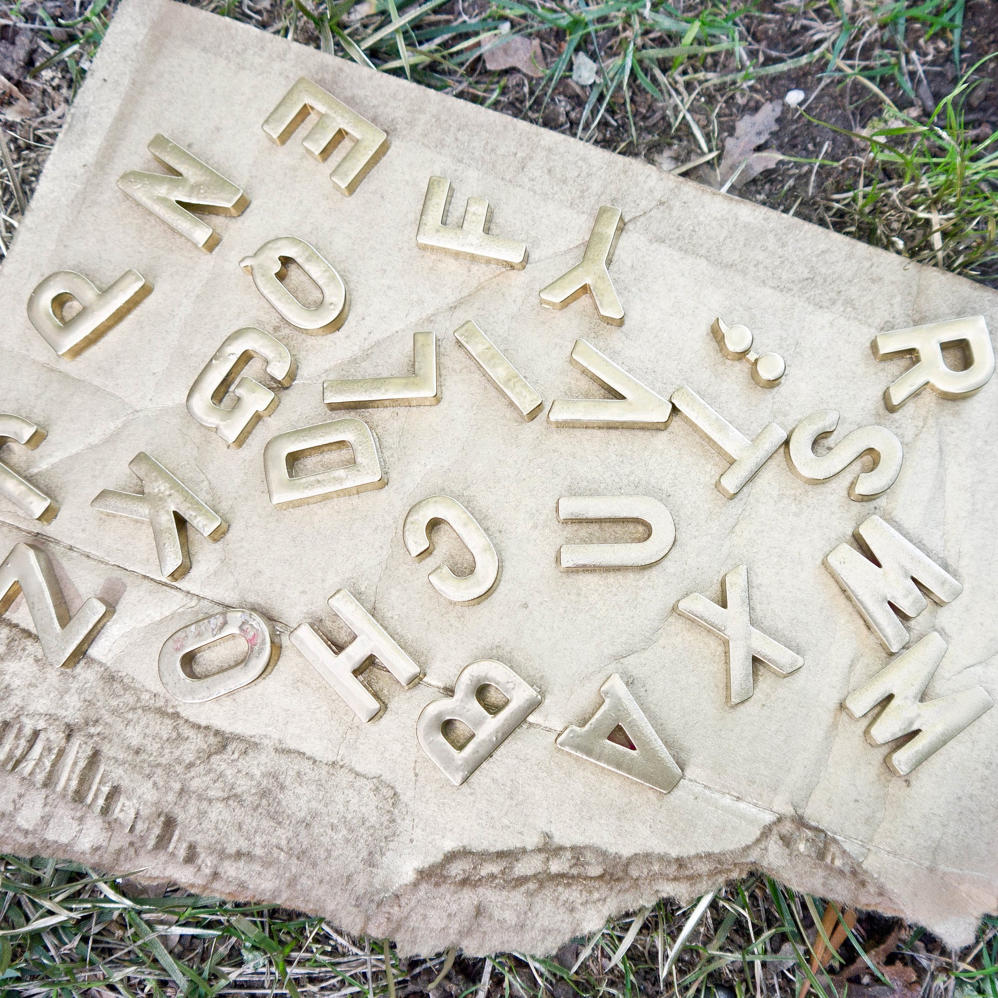 Gold Magnetic Letters