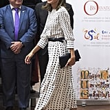 Queen Letizia's Massimo Dutti Midi Dress September 2018