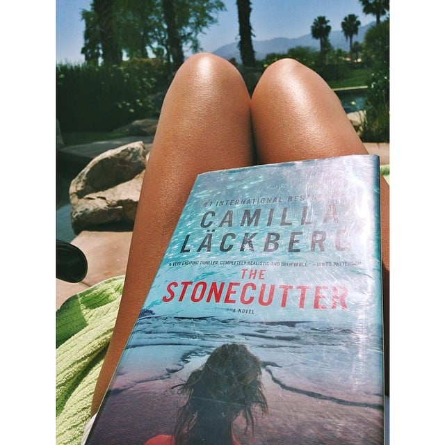 I shared my poolside reading on the POPSUGARLove Instagram. If you're a fan of Swedish thrillers, you should check out Camilla Lackberg's novels —they're fantastic.