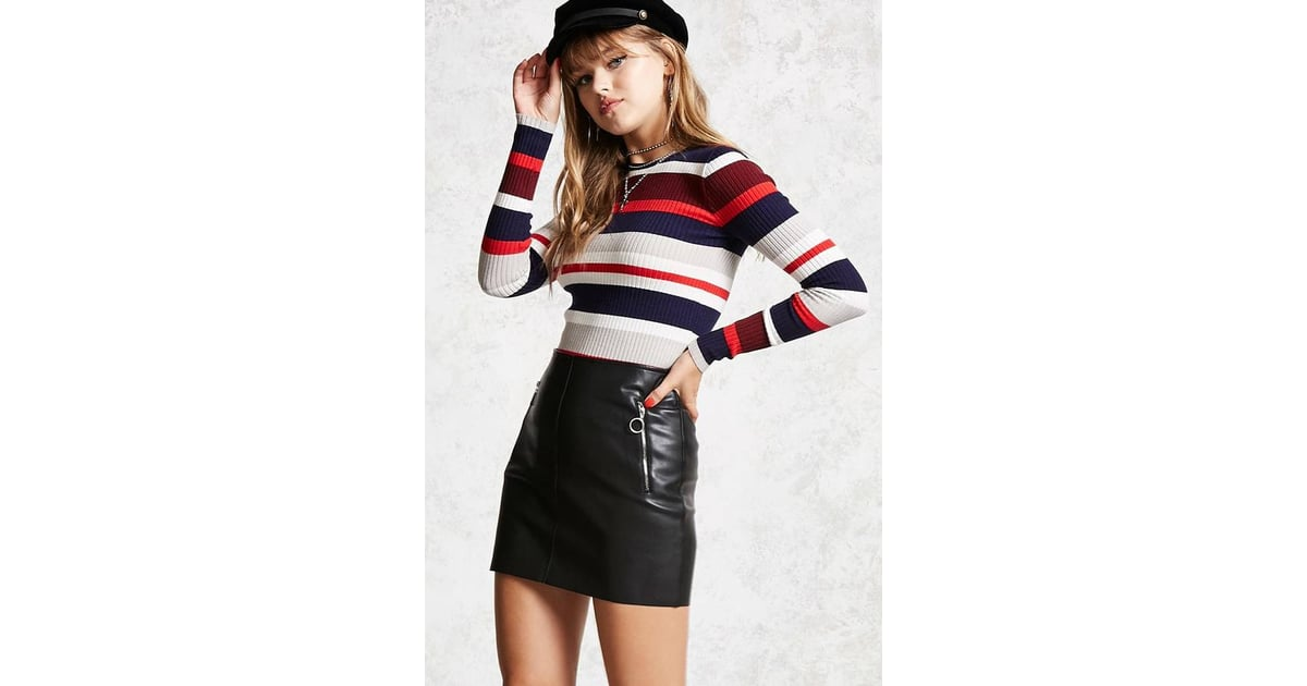 dbfc99b1a0efc6 Forever 21 Contemporary Striped Sweater