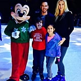 He shared a fun Instagram photo of the group hanging out with Mickey Mouse at Disney On Ice in December 2014.