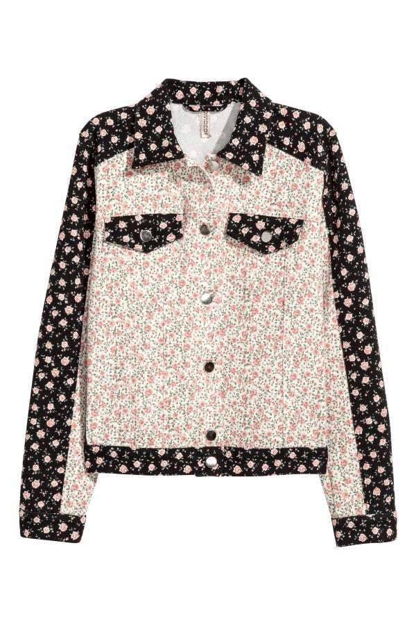 H M Denim Jacket Selena Gomez Wearing Free People Floral Denim