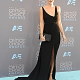 At the Critics' Choice Awards in 2016, Rosie chose a plunging Saint Laurent gown.
