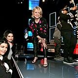 Kourtney Kardashian, Kendall Jenner, and Martha Stewart