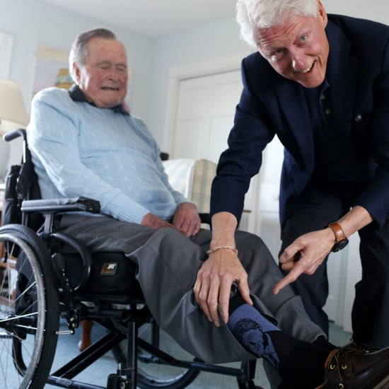 Bill Clinton Visits George H.W. Bush June 2018