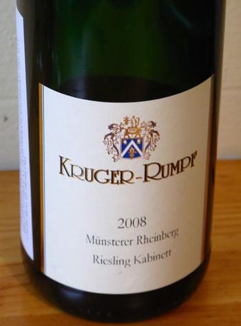 Wine Review of 2008 Kruger-Rumpf Müntsterer Rheinberg Riesling Kabinett