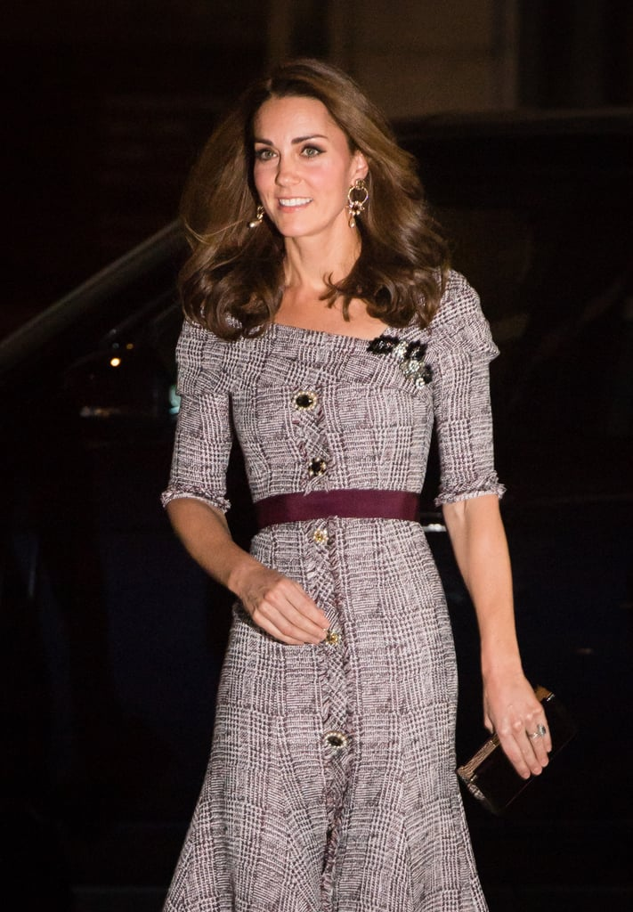 Kate Middleton is wasting no time getting back to her royal duties after officially wrapping up her maternity leave. After stepping out for her first joint outing with Prince William on Tuesday, the Duchess of Cambridge made a solo appearance at the opening of the Victoria & Albert Museum's Photography Centre in London on Wednesday night. Dressed in a plaid dress, Kate looked elegant as she met with curators who worked on the Collecting Photography: From Daguerreotype to Digital exhibit and unveiled a commemorative plaque. Kate is a patron of the museum, and back in June 2017, she assisted in opening the museum's expansion. Fun fact: Kate graduated St. Andrews University with a degree in art history, so it's likely that the initiative holds a special place in her heart.  Kate's night out comes just a week after she visited Sayers Croft Forest School and Wildlife Garden, marking her first royal engagement since giving birth to Prince Louis. It also comes just days before Princess Eugenie ties the knot with Jack Brooksbank. It's still unclear if Kate will attend the nuptials, given that her sister Pippa Middleton is due to give birth to her first child around the same time. Guess we'll just have to wait and see what happens.      Related:                                                                                                           This Is Why the Duchess of Sussex Must Stand Behind the Duchess of Cambridge