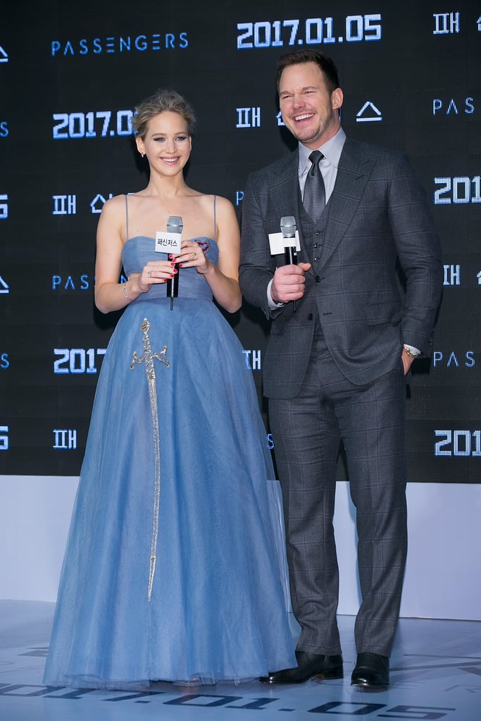 "Jennifer Lawrence and Chris Pratt, two Golden Retrievers in human form, are in the midst of a whirlwind European press tour for their upcoming sci-fi romance, Passengers. Unsurprisingly, it looks like the two goofy costars could not be having more fun. From taking jokey nonselfies together to laughing up and down the red carpet in Paris, Madrid, London, Berlin, Los Angeles, and Seoul, Chris and J Law have hereby solidified themselves as our new favorite Hollywood BFFs.         Related:                                                                Fact: You Are Not Ready For These Adorable Chris Pratt and Jennifer Lawrence Pictures                                                                   Jennifer Lawrence Jokes That Chris Pratt and Anna Faris's Perfect Romance Makes Her Feel ""Miserable"""