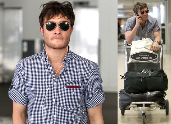 Pictures of Gossip Girl's Ed Westwick at LAX Airport