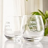 Drink Happy Stemless Glasses Set