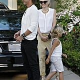 Gwen Stefani laughed with Gavin Rossdale and son Zuma on Father's Day in LA.