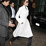 Wear Your Dress Coat Over Trousers to Appear Ladylike, Yet Tough