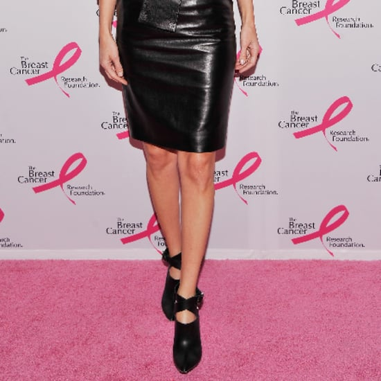 Celebrities in Leather Skirts