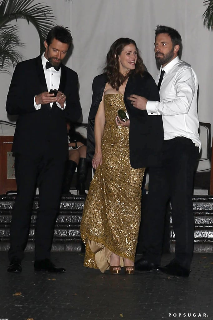 Hugh Jackman, Jennifer Garner, and Ben Affleck wrapped up their SAGs night at the Chateau Marmont.