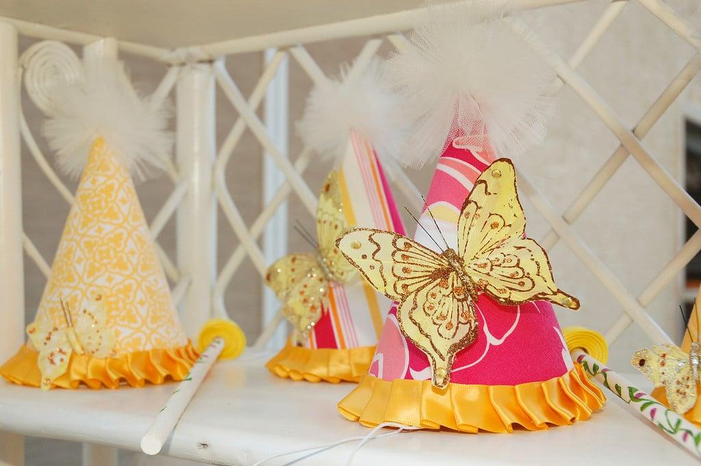 Custom Butterfly Party Hats
